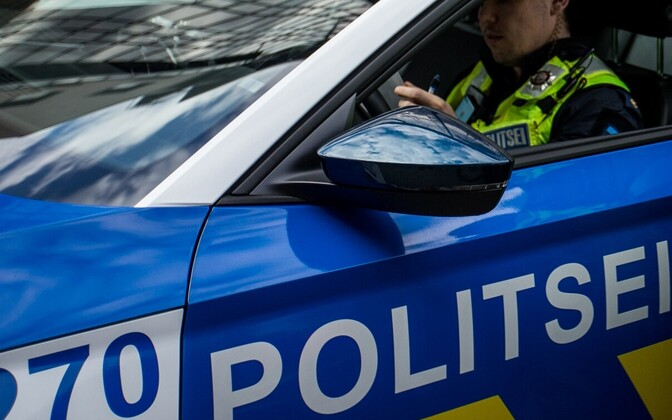 Police car in Estonia.