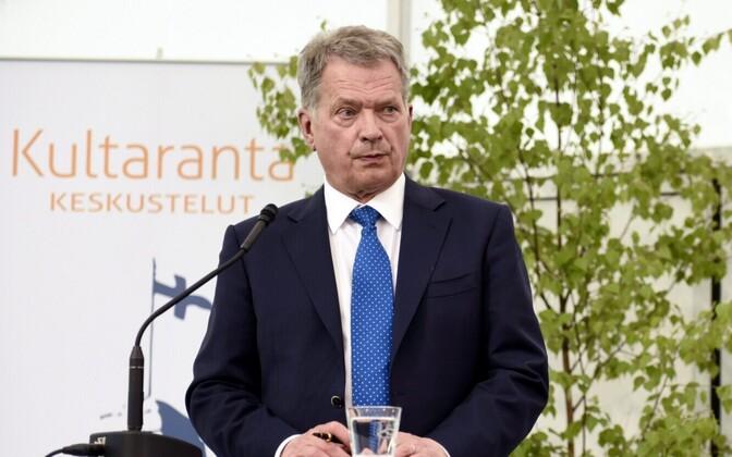 Soome president Sauli Niinistö 11. juunil Naantalis.