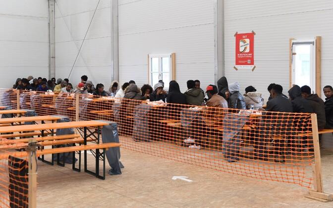 Varjupaigataotlejate registreerimiskeskus Baieri liidumaal Erdingis.