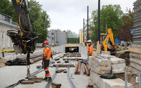 The construction price index increased in 2017: tram tunnel in Tallinn.
