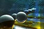 Kunstniku kujutis sellest, kuidas mikroosakesed liiguvad kiibil elekriväljas.