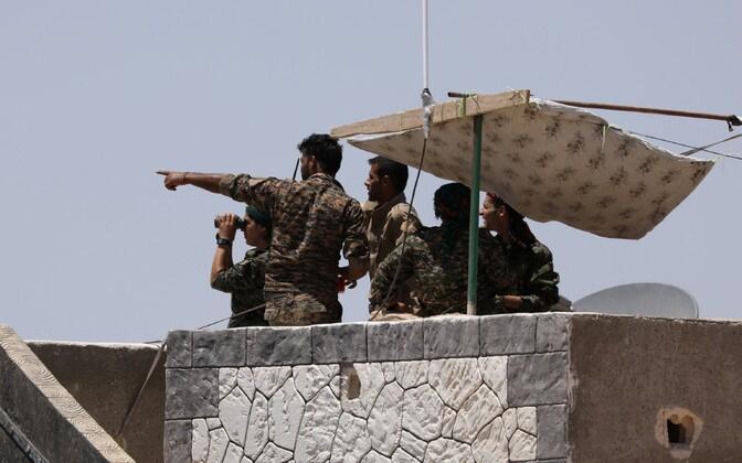 SDFi võitlejad 7. juunil Raqqa lähistel.