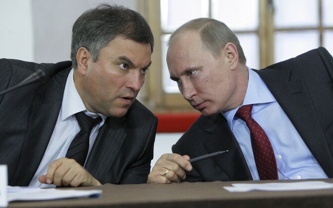 Vjatšeslav Volodin ja Vladimir Putin.
