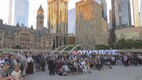 Victims of the June 1941 deportations were commemorated in Toronto's Nathan Phillips Square on Tuesday evening. June 13, 2017.