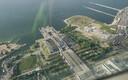 Tallinna linnahall lennukilt nähtuna.