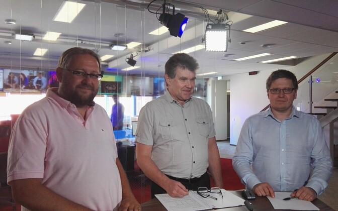 Anvar Samost, Juhan Kivirähk ja Urmet Kook.