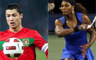 Cristiano Ronaldo ja Serena Williams on spordimaailma superstaarid, kelle tegutsemist spordiareenil ja väljaspool selle piire jälgivad pea miljonid silmapaarid.