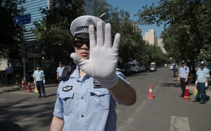Hiina politseinik, arhiivifoto.