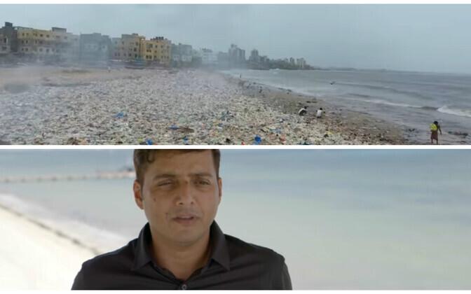 Афроз Шах вместе с добровольцами очистил мумбайский пляж от мусора почти за два года.