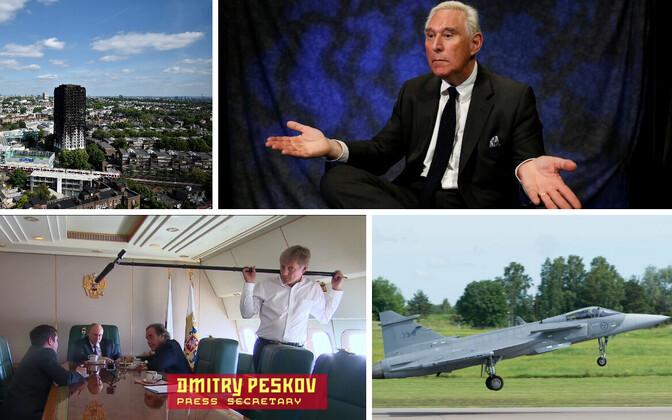 Londoni suurpõleng, Roger Stone, Dmitri Peskov, Saabi uus hävituslennuk.