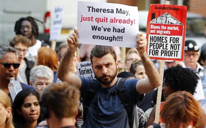 Meeleavaldajad reedel Londonis.