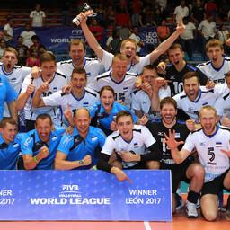 Eesti võrkpallikoondis võitis Maailmaliiga kolmanda tugevusgrupi.