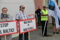 Акции протеста против Rail Baltic - явление для Эстонии регулярное.