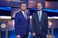 Presidendikandidaatide debatt, saatejuhid Marko Reikop ja Andres Kuusk. 2016