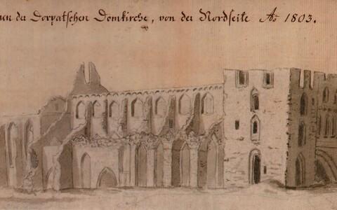 Tartu Toomkiriku varemed põhjaküljelt, 1803