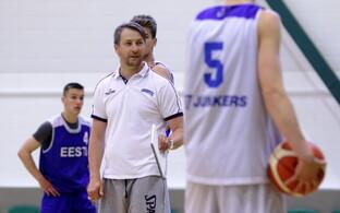 Eesti U-18 korvpallikoondise treening / Indrek Reinbok