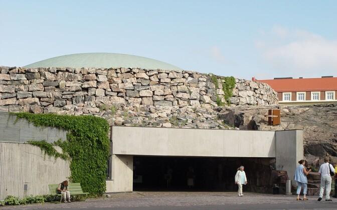 1969. aastal valminud Temppeliaukio ehk Templiväljaku kirik Helsingis.