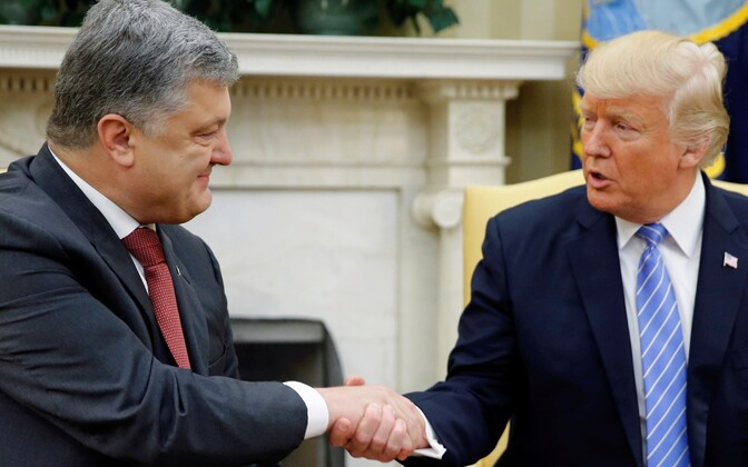Petro Porošenko ja Donald Trump kohtumas teisipäeval Valges Majas.