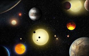 Valik eksoplaneete kunstniku nägemuses.