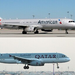 American Airlines ja Qatar Airlines.