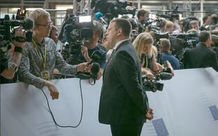 Jüri Ratas andmas intervjuud Johannes Trallale.