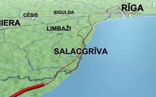 Rail Balticu trass Lätis.