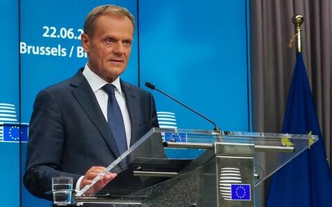 Дональд Туск на саммите в Брюсселе.