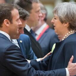 Тереза Мэй на встрече с лидерами стран ЕС.
