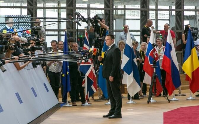 Prime Minister Jüri Ratas at the European Council on Thursday. June 22, 2017.