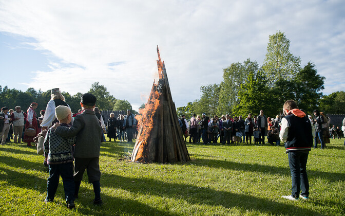 Midsummer at Tallinn's Open Air Museum.