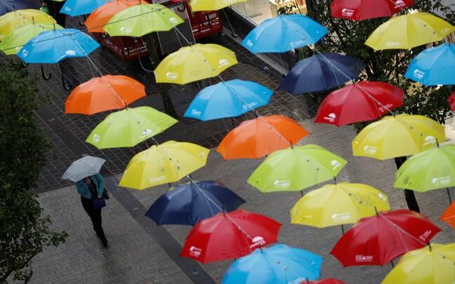 Vihmavarjud Liverpoolis.
