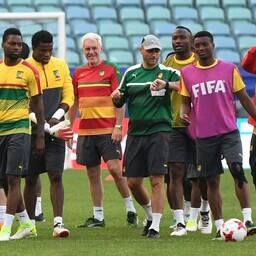 Kameruni jalgpallikoondis treeningul