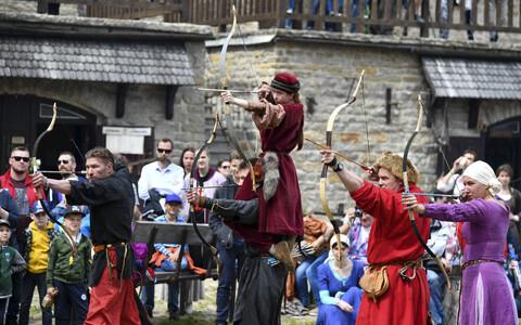 Средневековый фестиваль в Нарвском замке.