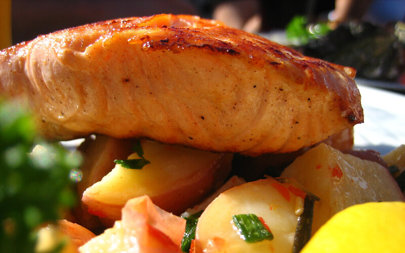 Lõhe on hea omega-3 rasvhapete allikas.