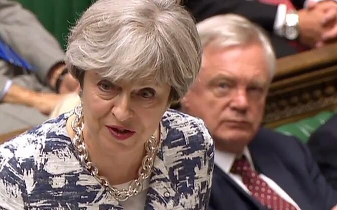 Briti peaminister Theresa May 26. juunil parlamendis.