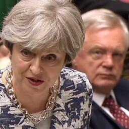 Премьер Великобритании Тереза Мэй во время выступления в британском парламента 26 июня.