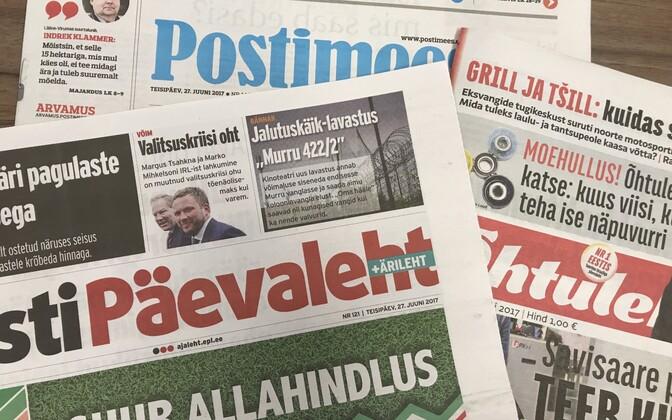Eesti päevalehed 27. juunil.
