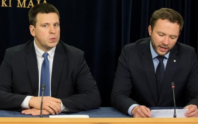 Юри Ратас и Маргус Цахкна.