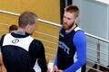 Eesti korvpallikoondise pressikonverents ja treening / Sten Olmre