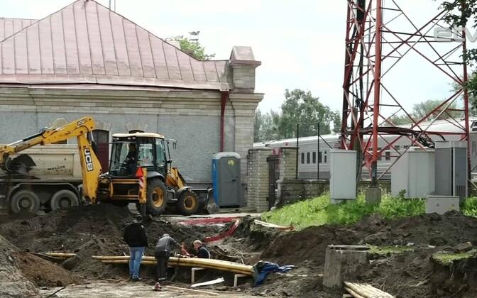 Строительство пассажирского терминала в Нарве.