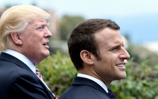 Donald Trump ja Emmanuel Macron.