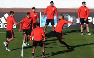 Tšiili jalgpallikoondis treeningul
