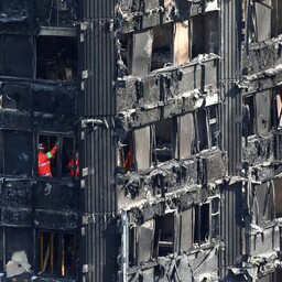 Põlenud Grenfell Tower.