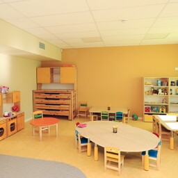 A playroom in the newly completed extension of Tõrvandi Kindergarten. February 2017.
