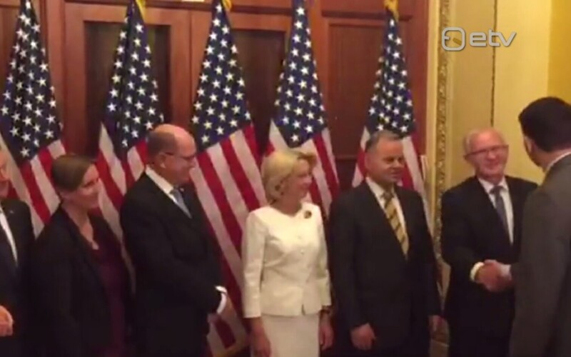 President of the Riigikogu Eiki Nestor (second to right) and other NB8 parliamentary leaders met with U.S. Speaker of the House Paul Ryan (far right) in Washington this week.