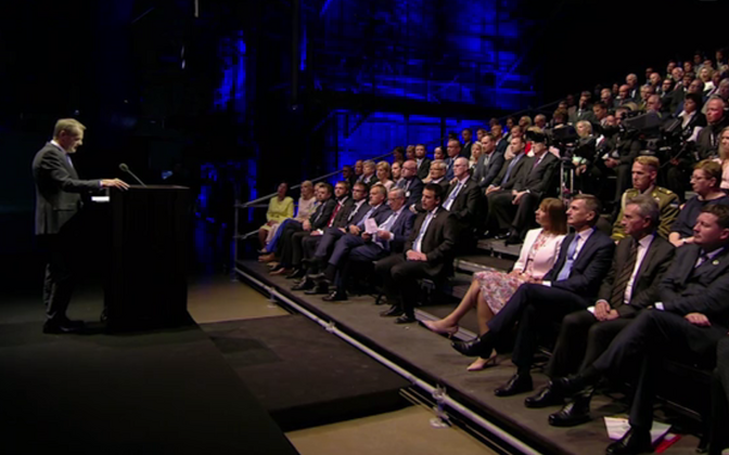 Donald Tusk pidas Eesti eesistumise avakontserdil Kultuurikatlas kõne