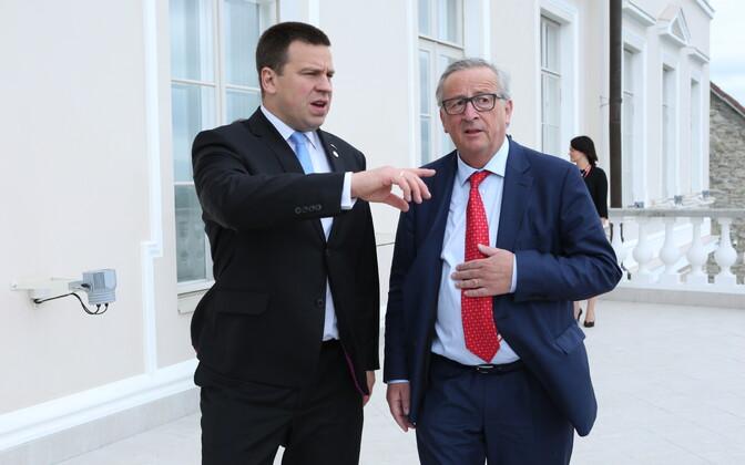 Juncker ja Ratas kohtusid Stenbocki majas
