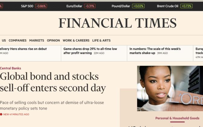 Financial Timesi esikülg 30. juunil.