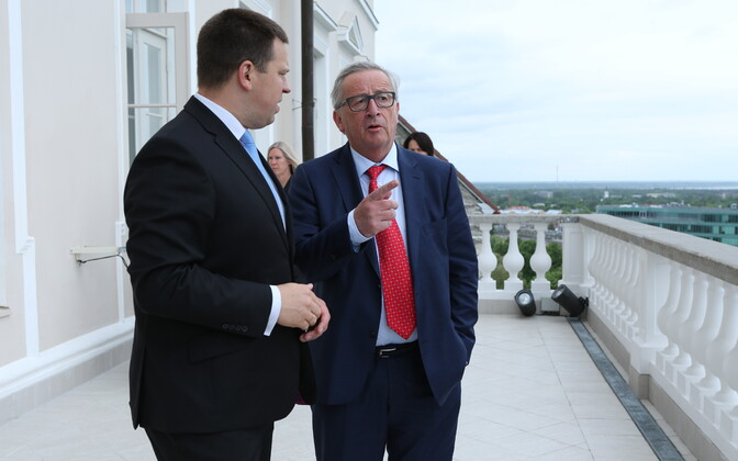 Jüri Ratas and Jean-Claude Juncker in Tallinn, June 30, 2017.
