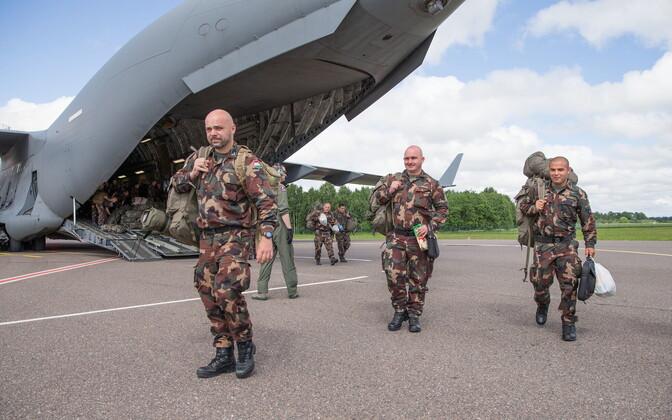 Hungarian troops arriving in Tartu, July 2, 2017.